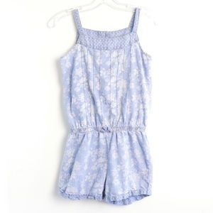 Juicy Couture girls romper pastel floral chambray
